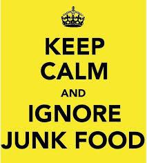 keep calm junk food